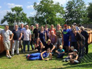 Gruppenbild mit den Helfern am Helfertag